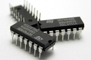 Three IC circuit chips