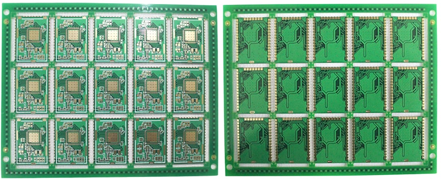 4 Layer Immersion Gold Half-Cut Castellated Holes Half Hole PCB