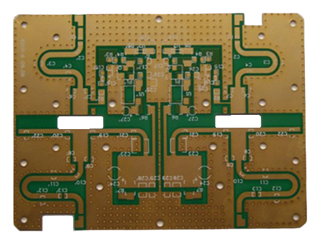 FR4 ARLON Double Layer Gold-plated High Frequency PCB Board