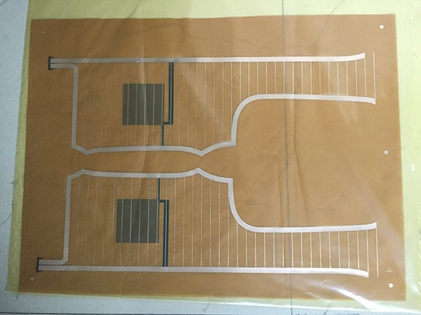 Flexible circuit boards without coverlay for automobiles