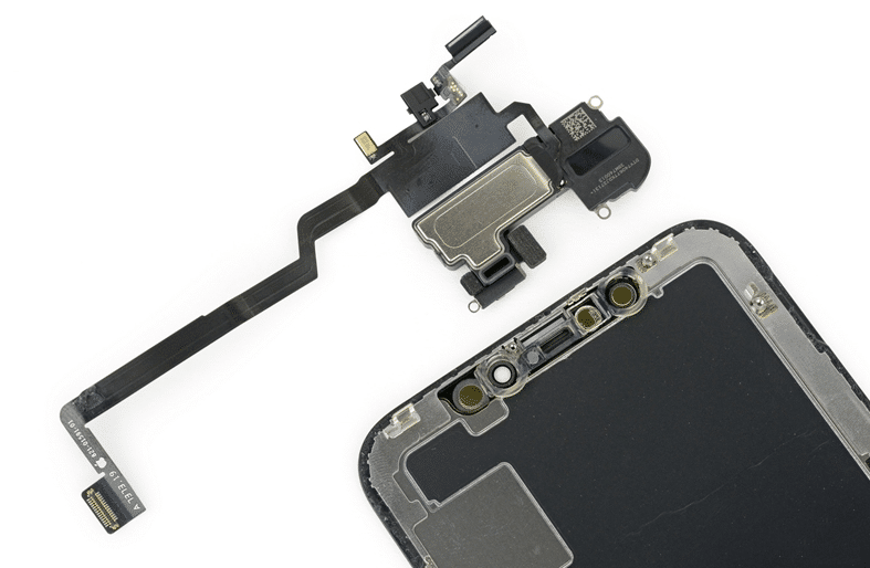 One of the FPC of iPhone X (black part on the upper right)
