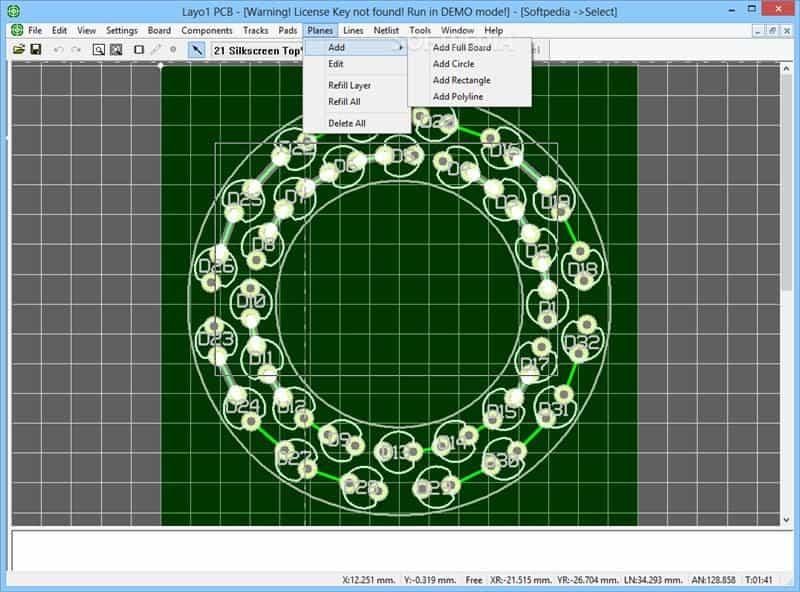 Layo1 PCB Design Software Screenshot