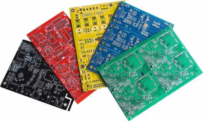 Various colors of PCB