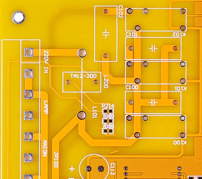 Yellow Solder Mask PCB