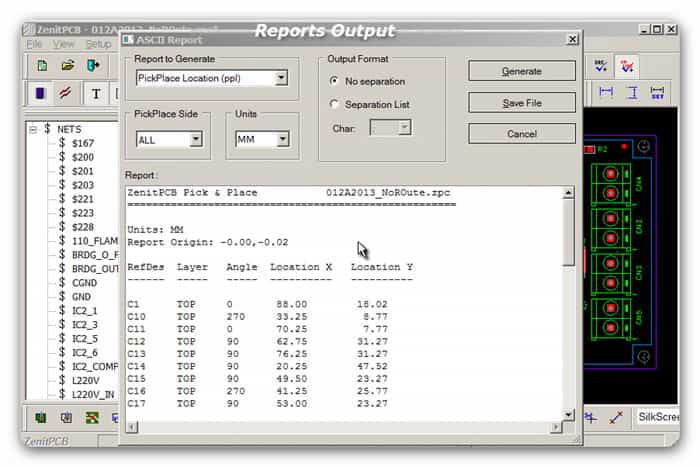 ZenitPCB Reports