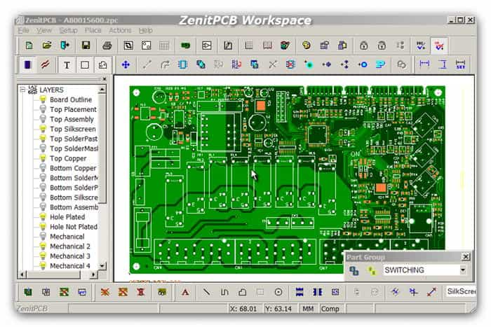 ZenitPCB Workspace
