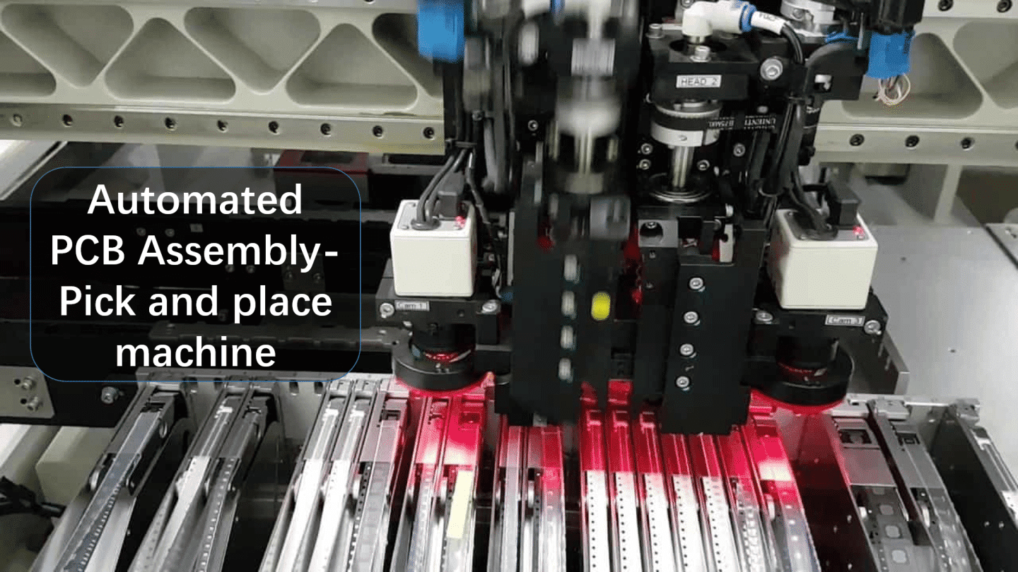Automated PCB Assembly-Pick and place machine